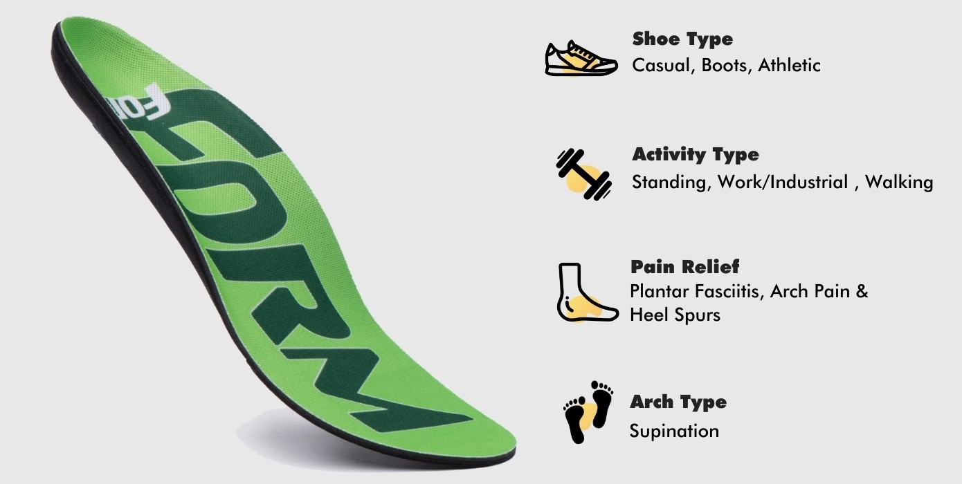 supination insoles ideal use cases