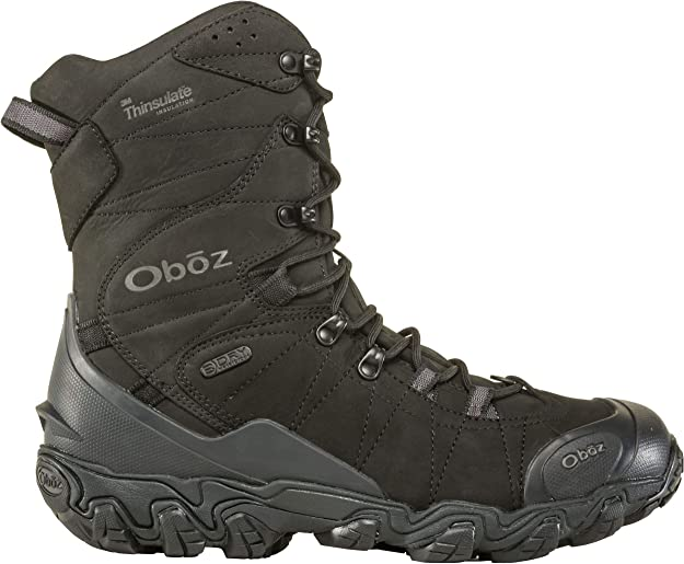 Oboz boots for walking on snow and ice